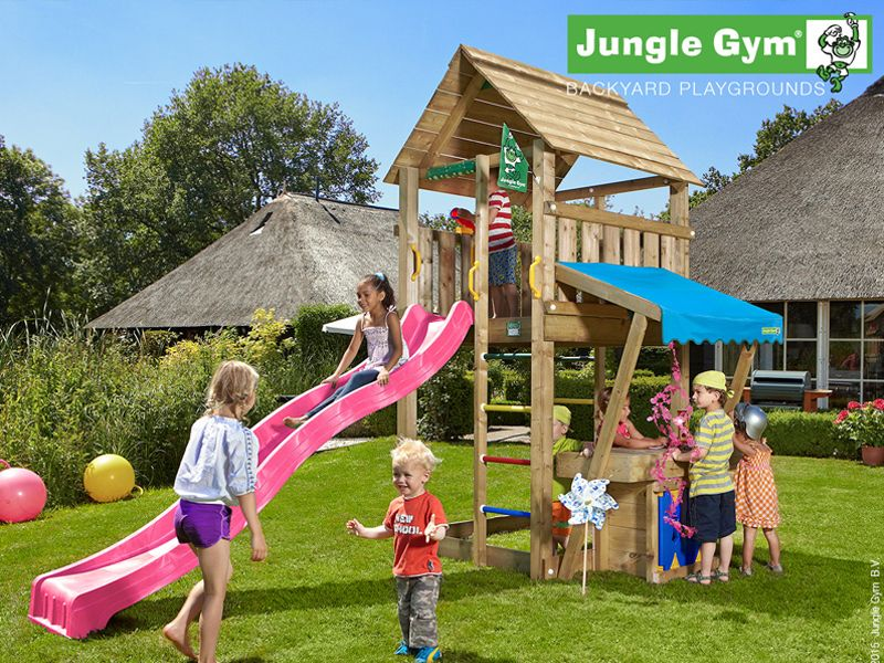 Jungle cabin mini market items kids outdoor play for Mini swing set