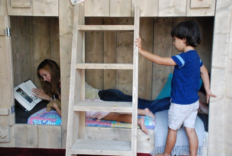 bedtime routine with BoomTree treehouse kids bunk beds