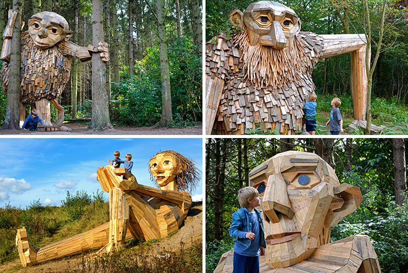 Outdoor Adventure Parks forgotten-giants-wood-sculptures