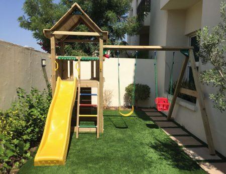 Jungle House + Double Swing + Rockwall
