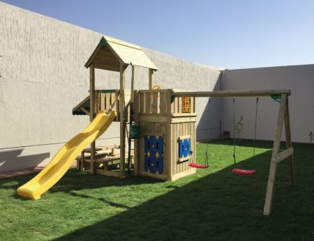 Children Playhouse + Double Swing + Picnic