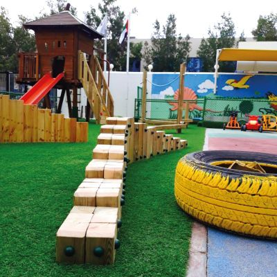 Preschool-Playground-Equipment-UAE-JINS-Stepping-stumps-BoomTree-Dubai-UAE