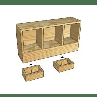 Kids Bed Storage Nook