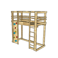 Loft-Bed-with-Rockwall-by-BoomTree-Adventure-Playgrounds-Dubai-UAE